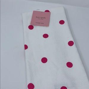 Kate Spade pink polkadot 2 pack kitchen towels